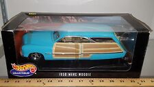1/18 HOT WHEELS 1950 MERCURY WOODIE AQUA WITH SURF BOARD rd