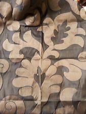 MARCATO tessuto stoffa scampolo damasco misto seta collezione OPLONTIS marrone