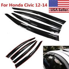 4PC Window Visor Shade Visors Rain Guards For Honda Civic 2012 2013 2014 4 Doors