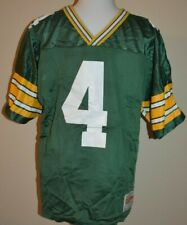 Vintage YOUTH Brett Favre Jersey Large Green Bay Packers football Wilson