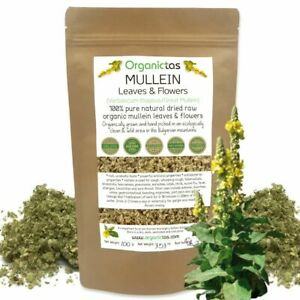 Natural MULLEIN LEAF Herbal Respiratory & Lungs Health Tea Verbasum Thapsus 100g