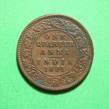 1891 India 1/4 Quarter Anna SNo56750