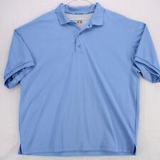 COLUMBIA PFG Performance Fishing Gear Blue Short Sleeve Polo SHIRT MEN'S L LARGE