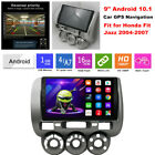 """9"""" Android 10.1 Car GPS Navigation Radio Video Player for Honda Fit Jazz 2004-07"""