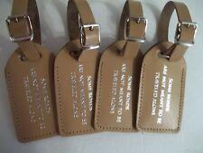Wedding favor,100 sun-tan leather, escort luggage tags,  $2.15 each