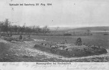 HOCHWALSH FRANCE MASS GRAVE GERMANY MILITARY WW1 FELDPOST POSTCARD 1914 (346)