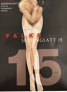 Falke 15 Stay-up Thigh Highs Color: White Size: Small 41584 - 08