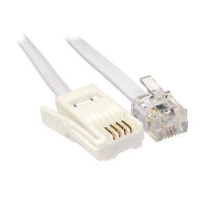 3M 4 Câble BT Prise Pour RJ11 Crossover Câble Téléphonique [006421