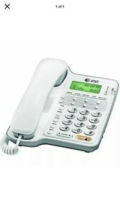 AT&T CL2909 Corded Phone with Speakerphone and Caller ID/Call Waiting, White New
