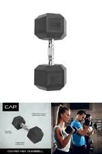Single Barbell Dumbbell 50lbs Coated Hex GYM Fitness Workout Exercise Muscle New