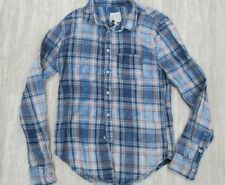 Joe's Jeans The Shirt Unisex Long Sleeve Plaid Blue SMALL S NEW