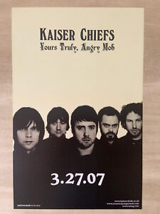 """Kaiser Chiefs, """"Yours Truly, Angry Mob"""",  Promo Poster, Double Sided"""