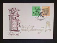 DDR MK 1978 LEIPZIGER MESSE MAXIMUMKARTE CARTE MAXIMUM CARD MC CM c9369