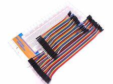 830 Tie Point Solderless Breadboard + 80 Pieces M-M Dupont Jumper Wire 10cm 20cm