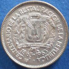 DOMINICAN REPUBLIC 10 CENTAVOS 1963 SILVER Dominicana Dominikanische Dominicaine