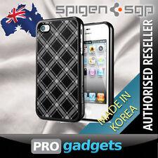 Genuine Spigen SGP Apple iPhone 4 4S Linear Velato Case Cover - Black Unpackaged