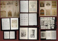 1800-ARCHITETTURA-GRANDE LOTTO 85 INCISIONI-STAMPE-TAVOLE COLORATE-ORIGINALI.