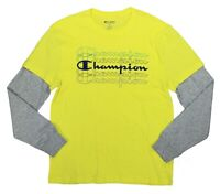 Champion Men's Logo Graphic Front Layered Look Long Sleeve Men's T-Shirt NWT