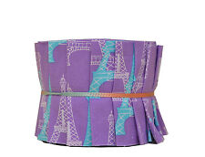 "Quilt Jelly Roll Fabric 20 Strips 2.5 x 44"" Child Paris Eiffel Tower Purple Tone"