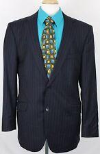 Ben Sherman Men's Suit Jacket Sz 46L Pinstripe Black Lined Double Vented EUC