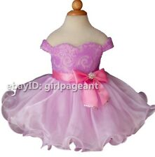 Infant/toddler/kids/baby Girl's Lilac Sequins lace Pageant Dress 2T EB1217-2