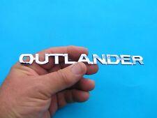 MITSUBISHI OUTLANDER BADGE CHROME PLASTIC SCRIPT Car Emblem *NEW