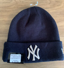 New Era NY New York Yankees Beanie Hat. Navy & White Logo. One Size Adult.  #68