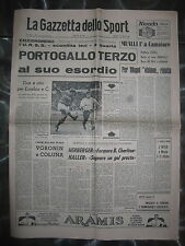 LA GAZZETTA DELLO SPORT 29/7/1966  Mondiali di calcio  Portogallo 2  URSS 1