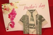 MOTHERS  DAY GIFTS UNIQUE GIFTS TWO DOLLARS (( SHIRT AND TIE )) $2 BILL FOLDED