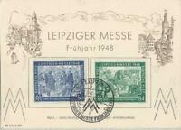 17996) GERMANY 2.3.1948 PC Leipziger Messe Special Card