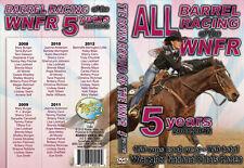 2008-2012 5 DVD set NFR barrel racing all runs 150 a year 750 total horse rodeo