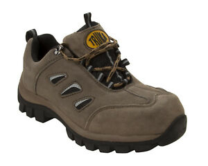 MENS KHAKI SUEDE LEATHER SAFETY WORK BOOTS STEEL TOE SHOES HIKER TRAINERS SIZE
