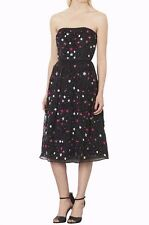 NWT$360 Topshop 'Sweetie' Embellished Strapless Midi Dress Black [SZ 4 US] #N588
