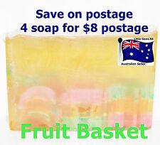 HANDMADE NATURAL TRANSPARENT SOAP Fruit Basket 100GRAMS ~ 4 for $8 Postage