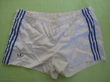 Short Adidas Ventex Blanc OM Vintage satin brillant nylon Oldschool 80'S - XL