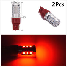 2Pcs T20 7443 12V Red LED Flashing Strobe Car Rear Alert Safety Brake Stop Light