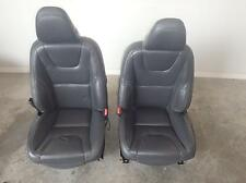 2012-2015 VOLVO 60 SERIES BLACK LEATHER FRONT BUCKET SEATS