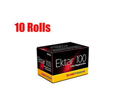10 Rolls Kodak Ektar 100 35mm135-36 Profession Color Negative Film Dated 11/2019