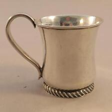 Rare Early American Coin Silver Child's Mug MM to Sarah Demilt New York c. 1810
