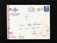 Germany Italy Censor Less Common Munich Strip Unlisted Box Marks 1941 & Letter ^