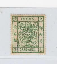 *CHINA-1 CANDARIN-DARK GREEN-MINT-LH-VERY FINE