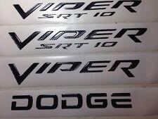 2003-2010 Dodge Viper SRT10 FENDER & REAR emblem kit 4 pc Carbon Fiber NEW