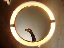 Grand miroir rétro éclairé vintage design des 70's (allibert ?)