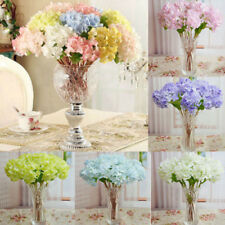 Wedding Home Decor Bridal Party Artificial Hydrangea Bouquet Silk Leaf Flowers