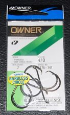 "7 Pack Owner California ""Legal"" Salmon Barbless Circle Hook - Size 4/0 5176-141"