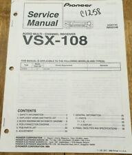 PIONEER VSX-108 AUDIO MULTI-CHANNEL RECEIVER ORIGINAL SERVICE REPAIR MANUAL