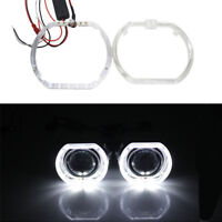 2Pcs Angel Eyes Halo Lights For 2.5 inch Square Lens Projection Lamp White LED