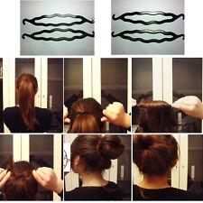 3pcs Schwarz Frisur Haarknoten Dutt Twister Praktisch Damen Haarstyling Werkzeug