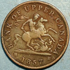 1 Penny 1857 Bank of Upper Canada P215