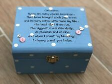 Shabby Special Best Friend chic present Trinket jewellery gift box personalised